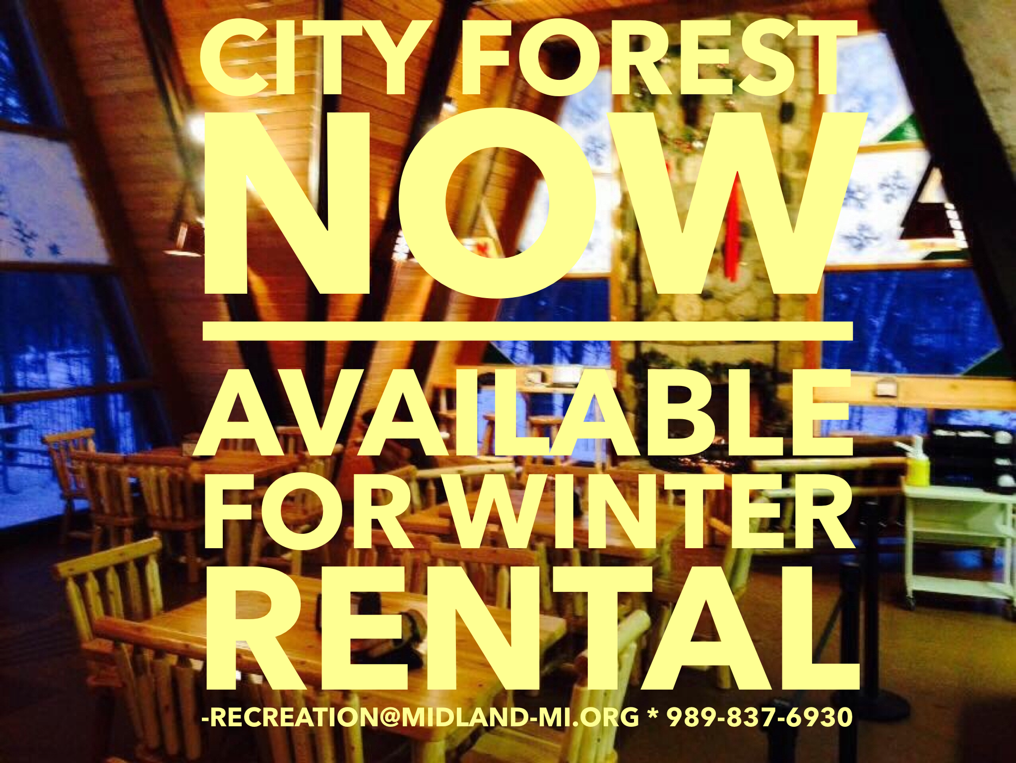 City Forest Chalet Rental