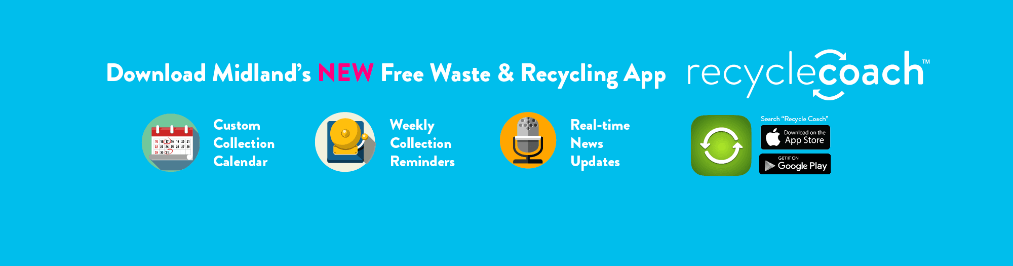 Download Midland's New free waste and recycling app