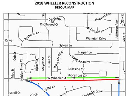 Wheeler reconstruction detour map