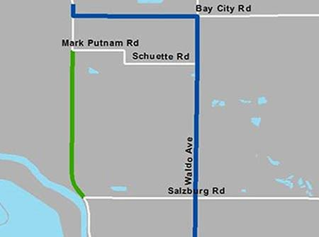 S Saginaw Detour Map