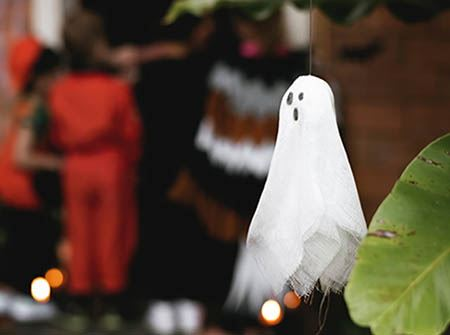 A ghost decoration for Halloween
