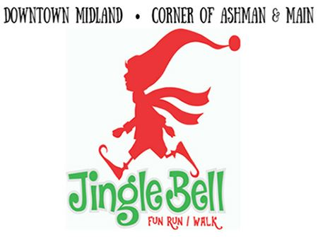 The red elf logo of the Jingle Bell Run