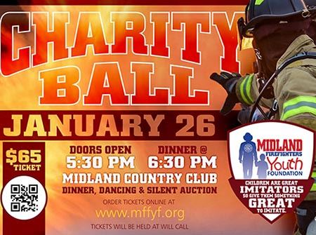 Info flyer for the 2018 Firefighter Charity Ball