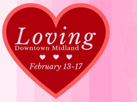 Loving Downtown Midland logo, February 13-17