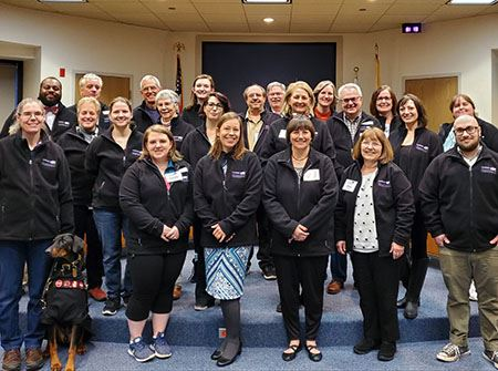 The 2019 Citizens Academy class in black jackets
