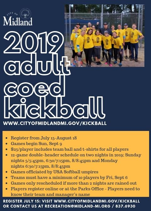 2019 Adult Kickball Flyer