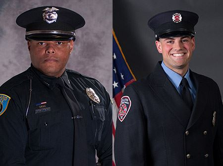 Sgt. Corey Armstead and Firefighter John Polzin