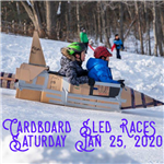 2020 Sled Races Word Swag