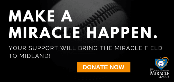 Miracle Field donate now banner to click to donate