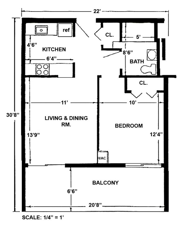 Standard One-Bedroom - Large layout