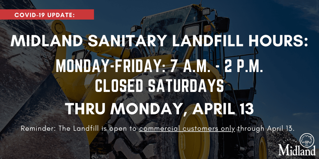 The Sanitary Landfill is closed to residential customers through April 13