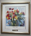 Painting of flowers granted to the City from the City of Holland, Michigan.