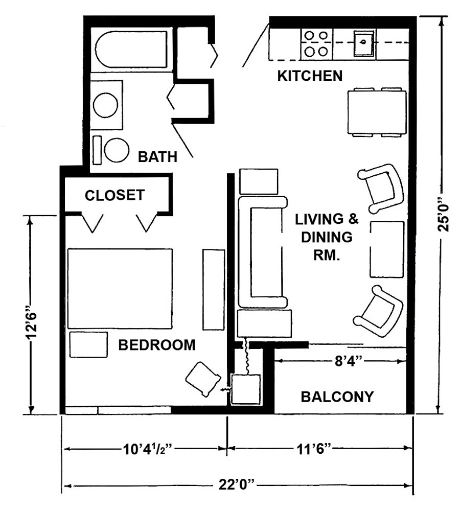 standard 1 bedroom apartment size latest bestapartment 2018