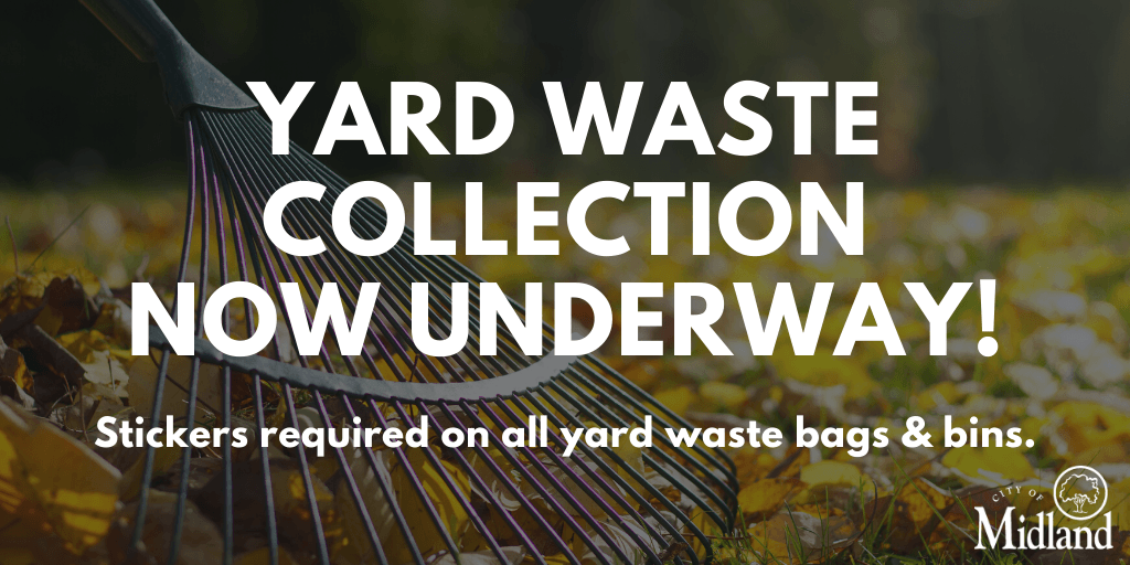 Yard waste collection is now underway