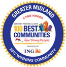 Seal for the 100 best communities of 2012.