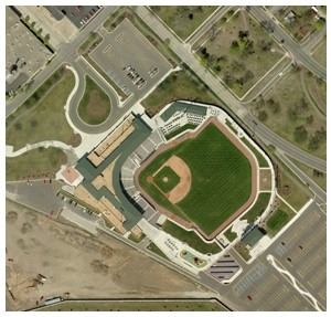GIS aerial image of Dow Diamond.