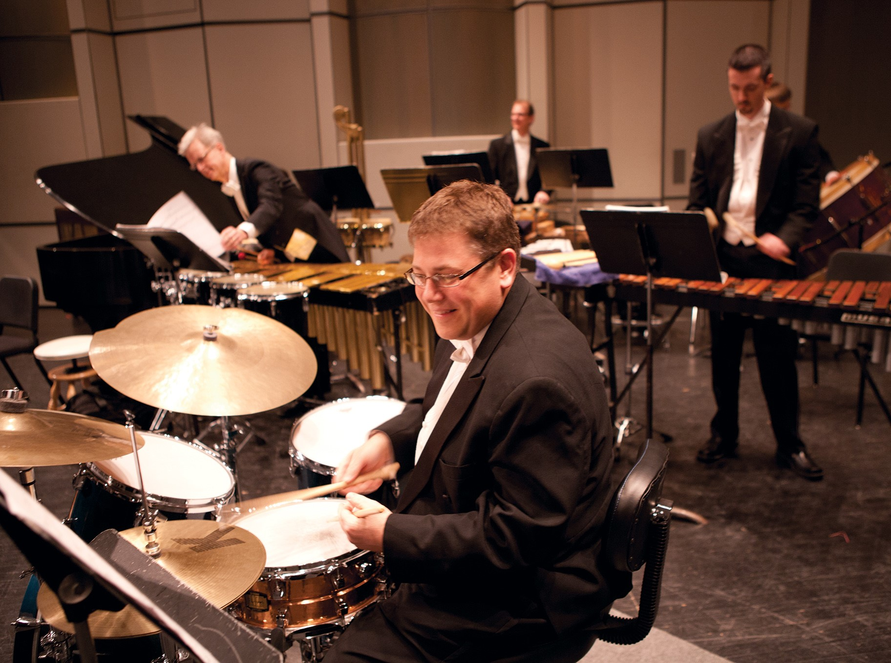 Image of percussion artists performing