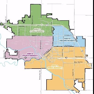 City of Midland Areas Map