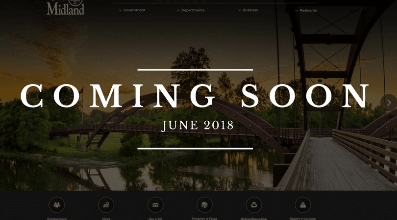 A preview of the 2018 revamped City website - coming soon!