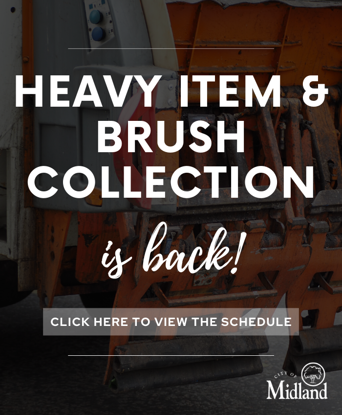 Heavy item and brush collection has returned as of June 22, 2020